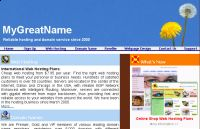 MyGreatName.com Affordable Web Hosting